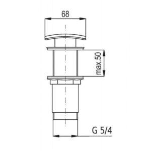 Донный клапан квадратный Klik-Klak 660-454-00