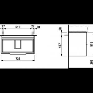 Тумба под раковину Laufen Base (1028.5) H4023521102601 матовая