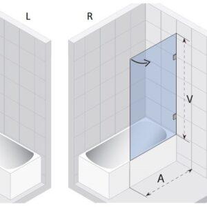 Шторка (ширма) на ванну SCANDIC MISTRAL M107
