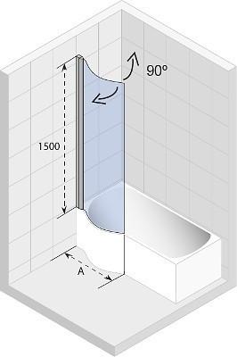Ширма (шторка) для ванны NAUTIC DORADO