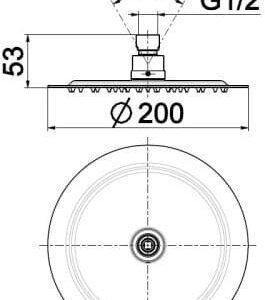 Верхний душ Solaris 842-351-00-BL