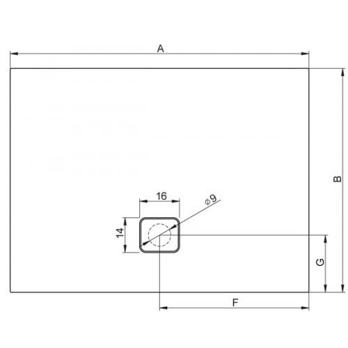Душевой поддон черный матовый RIHO BASEL 416 120×90 DC26170