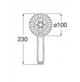 Лейка для душа Roca STELLA кругла ø100 мм, 3 функции A5B1B03C00