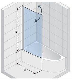 Ширма (шторка) для ванны NAUTIC  LYRA GGT5110945800