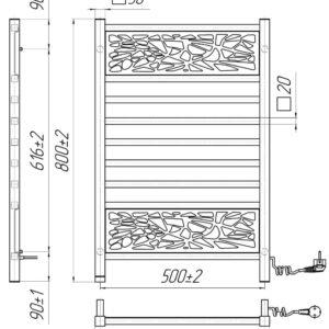 Электрический полотенцесушитель Анталия 800×530