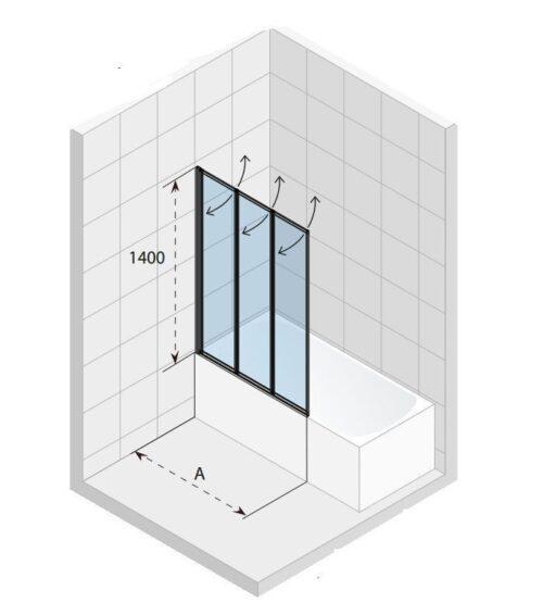 Ширма (шторка) ALTA для ванны