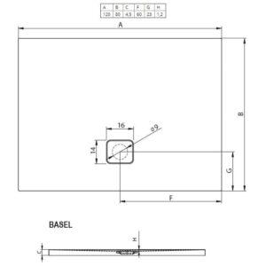 Душевой поддон RIHO BASEL 406 120X80 см  DC160050000000S