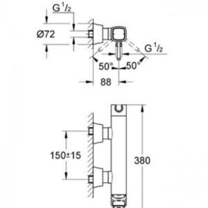 Смеситель однорычажный для душа Grandera DN 15 (хром-золото) (23316IG0)