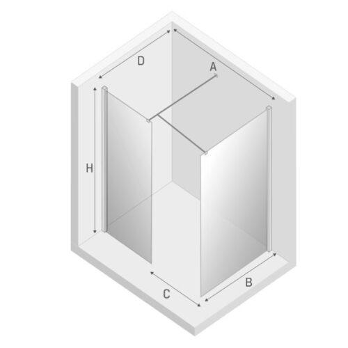 Душевая перегородка EVENTA (160x100x200)