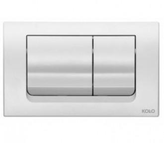 KOLO SLIM кнопка спускная 16*24,6 см белая