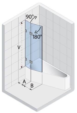 Ширма (шторка) для ванны SCANDIC S500-GETA170