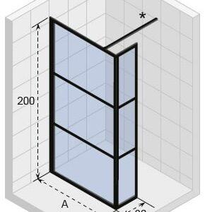 Душевая перегородка RIHO GRID GB402900 x 2100 x 2100