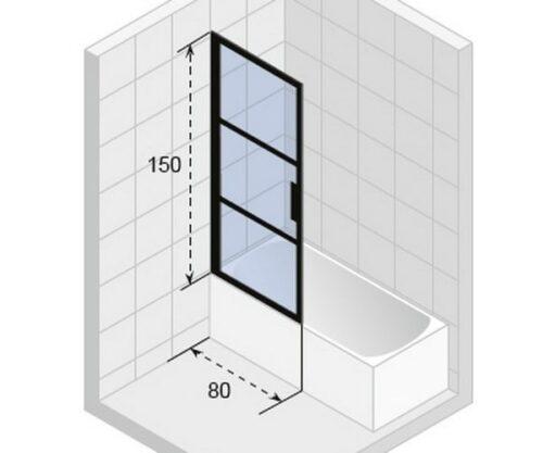 Ширма (шторка) для ванны Riho GRID  GB501 1500x 80 L