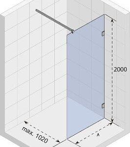 Душевая перегородка SCANDIC S400-110