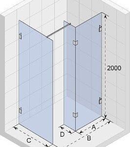 Душова перегородка SCANDIC S405-200 GC96200
