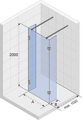 Душевая перегородка SCANDIC S202-120/80