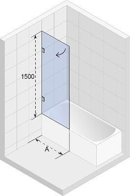 Ширма (шторка) для ванны Riho SCANDIC MISTRAL M107-90 L