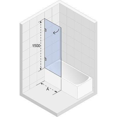 Ширма (шторка) для ванны Riho SCANDIC MISTRAL M107-90 R