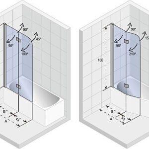 Ширма (шторка) для ванны Riho NOVIK Z500 UNIVERSAL