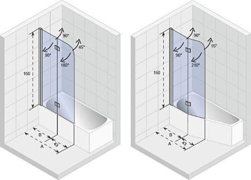 Ширма (шторка) для ванны Riho NOVIK Z500 YUKON