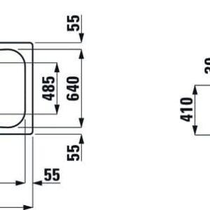 Ванна стальная Laufen Moderna Plus 170х75 H2251300000401