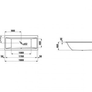 Панель фронтальная 180 см LAUFEN PRO H2961350000001