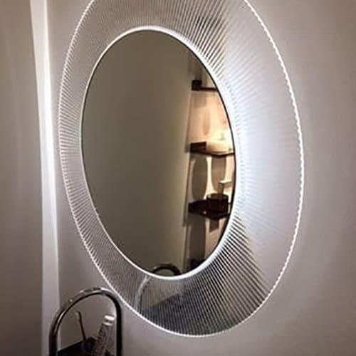 Зеркало с подсветкой Laufen Kartell By 78х78 см Прозрачный кристалл H3863330840001
