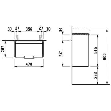 Шкафчик Base (1595.5) матовый белый H4021011102601