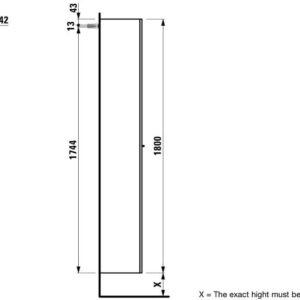 Шкаф подвесной высокий Laufen Kartell By Серый H4081520336341