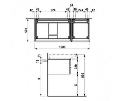 Шкафчик под умывальник Laufen Alessi One H4241800976301