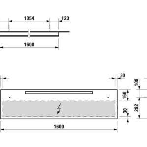 Зеркало Laufen Alessi Onevolution *160*40см с подсветкой H4484410972001