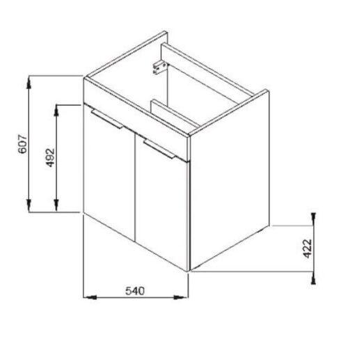 Тумба с умывальником 55 см Jika Cube H4536121763021