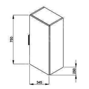 Пенал подвесной JIKA Cube 34,5 см H4537111763001