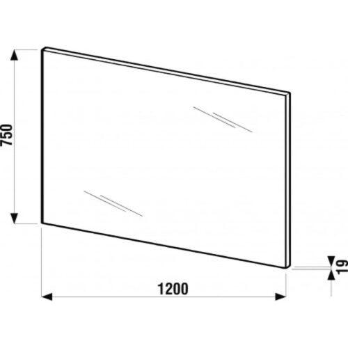 Зеркало Jika Cube 75х120 белое H4555570393041
