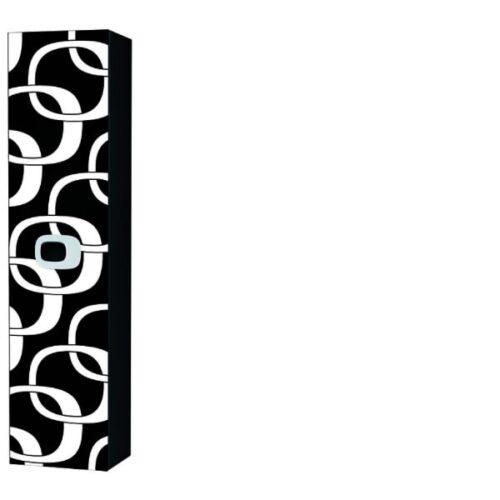 Пенал для ванной левый Laufen-MIMO (белый-черный) (4.6155.1.055.531.1)