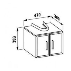 Тумба под умывальник Laufen-CASE (1095.1/2) (белый)