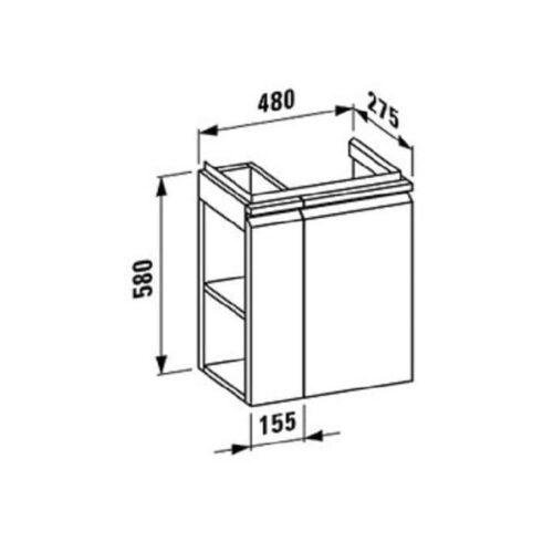 Шкафчик под умывальник LAUFEN Pro New H4830020954631