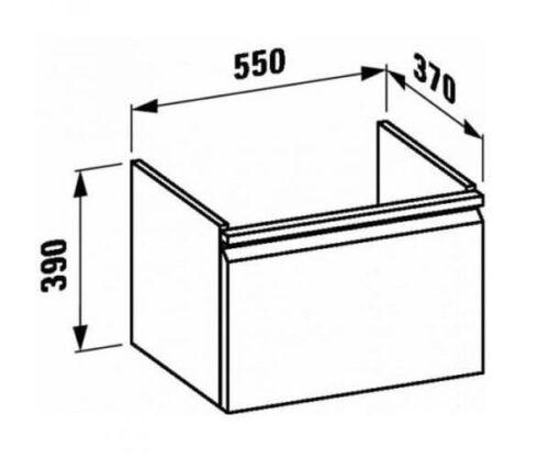 Шкафчик Laufen Pro 57x37x39 белый (H4830310954631)