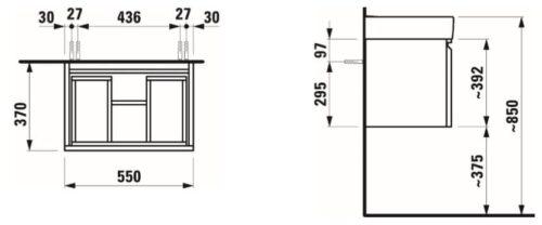 Шкафчик для рокавины 813966 LAUFEN LAUFEN PRO S 483551