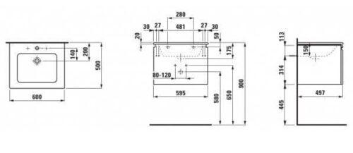 Меблевий комплект Pro S 60 белый глянец H8609614631041