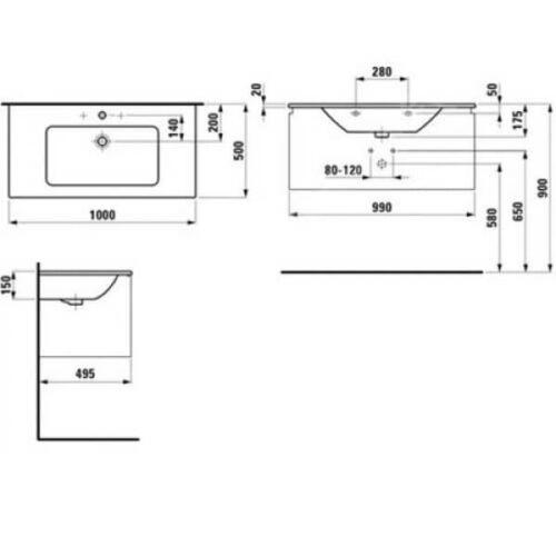 Меблевий комплект  Pro S 100 белый глянец H8609664751041