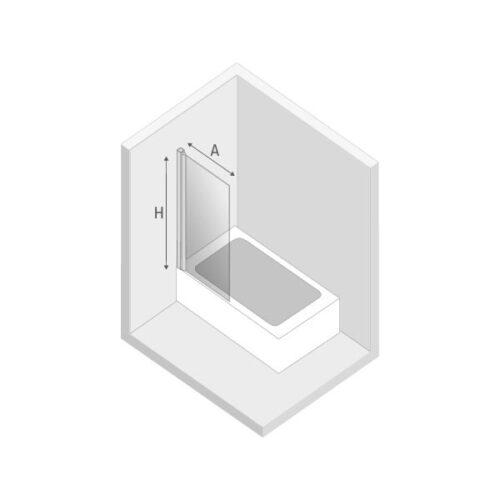 Ширма (шторка) для ванны NEW SOLEO (90x140) P-0025