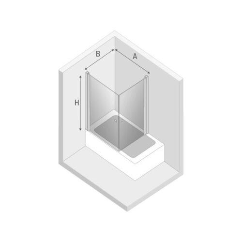 Ширма (шторка) для ванны NEW SOLEO (90x70x140)
