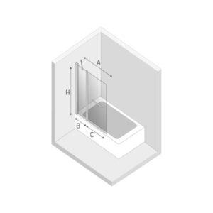 Ширма (шторка) для ванны NEW SOLEO (100×140)