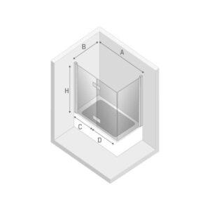 Ширма (шторка) для ванны NEW SOLEO L (100x70x140)