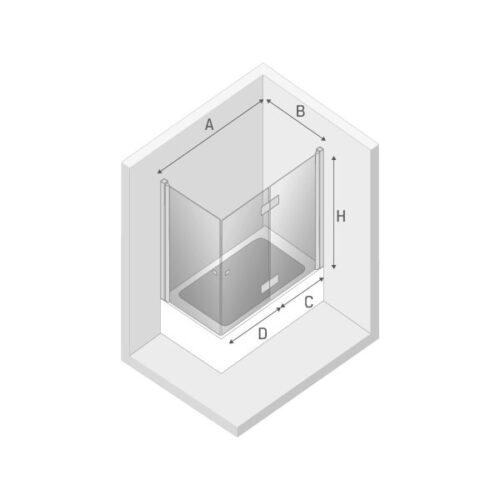 Ширма (шторка) для ванны NEW SOLEO P (100x70x140)