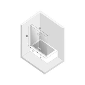 Ширма (шторка) для ванны NEW SOLEO (120×140) P-0030