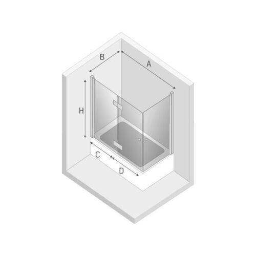 Ширма (шторка) для ванны NEW SOLEO L (120x70x140)