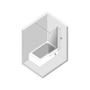 Ширма (шторка) для ванны NEW SOLEO (90×140)