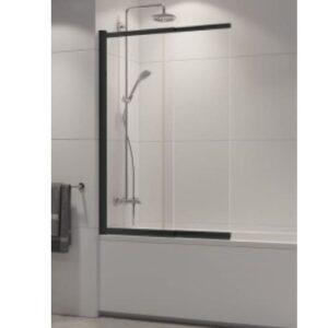 Ширма (шторка) для ванны  SENSI BLACK (100×150)